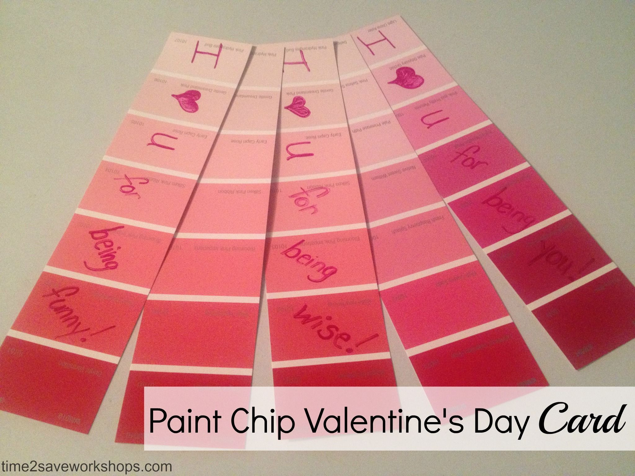 Cheap Valentines Ideas Diy Paint Chip Valentine S Day