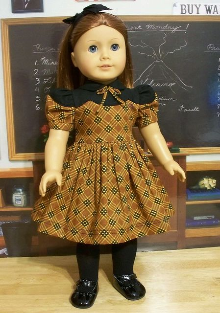 1940-50's Fall School Frock, Made for Emily by Keepersdollyduds, via Flickr