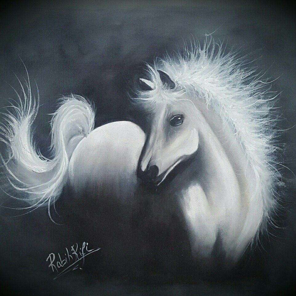 A Horse Oil Painting رسم حصان بالألوان الزيتية Watch The Painting Video On Youtube Link Attached Below بمكنكم مشاهدة الفيديو من خلا Art Oil Painting Horses