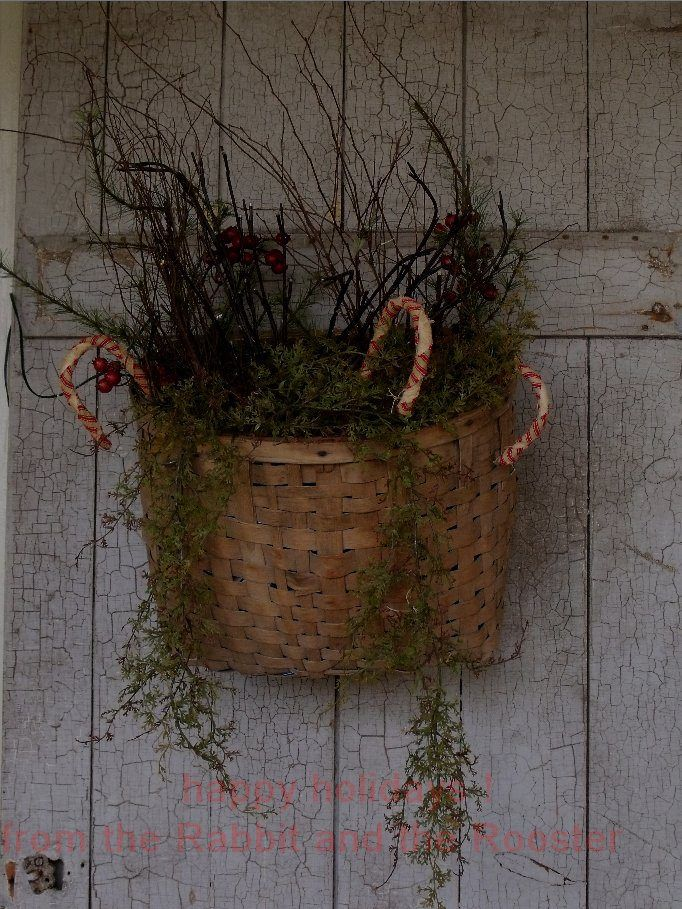 Primitive Christmas I Would Make This With Pine Boughs