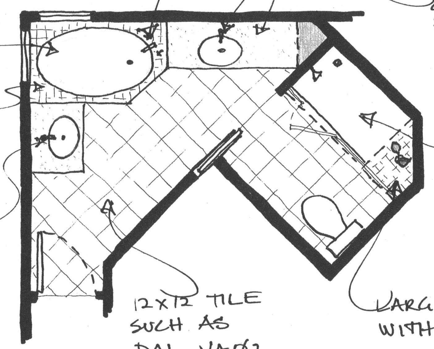 Triangle Bathroom Floor Plan Bathroom Floor Plans Room Layout How To Plan