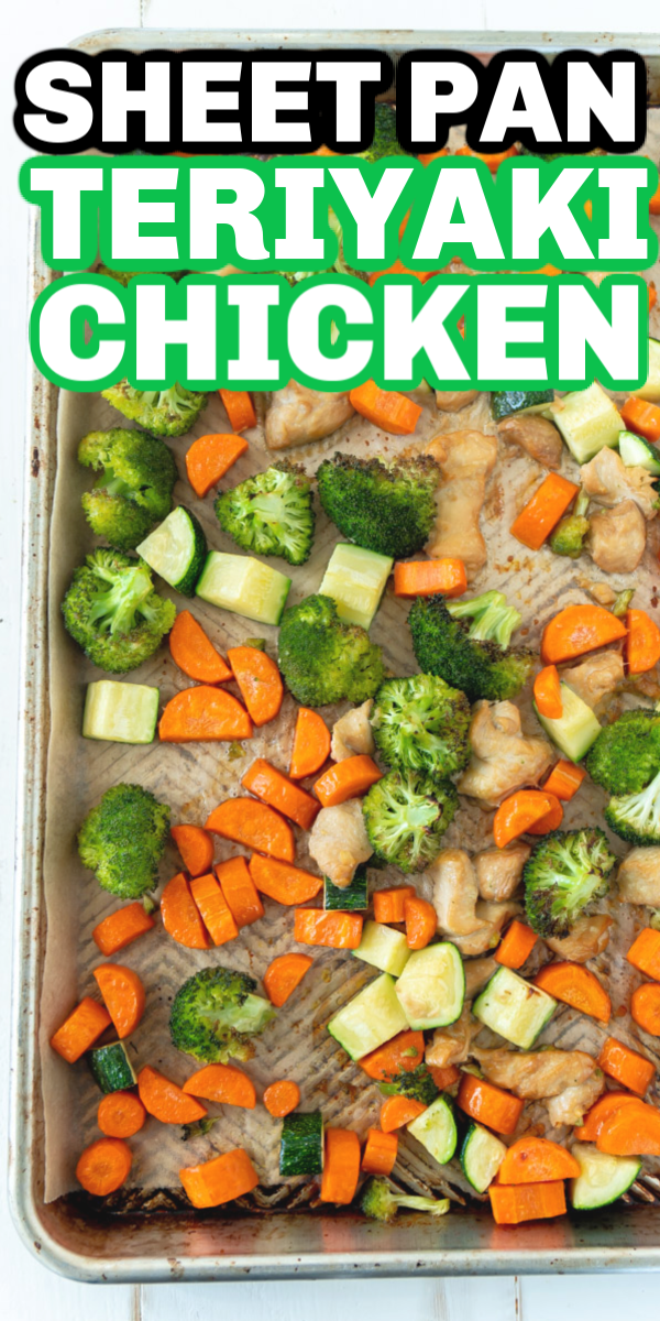 The best teriyaki sheet pan chicken and veggies recipe! Easy to make, healthy, and perfect for meal prep one day then enjoy all week long!  #PerdueFarms #PerdueFarms_Partner