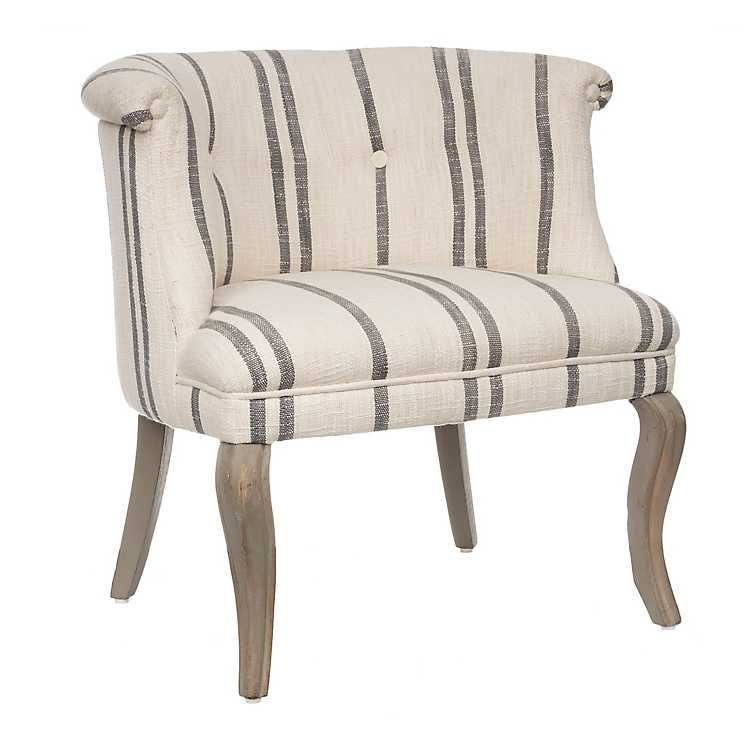 Striped Madeline Low Back Accent Chair Kirklands In 2020 Arm Chairs Living Room Accent Chairs Chair #striped #living #room #chairs