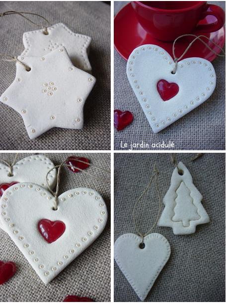 salt dough Christmas ornaments - décos de Noël pâte à sel - LE JARDIN ACIDULÉ #boyfriendgiftsdiy