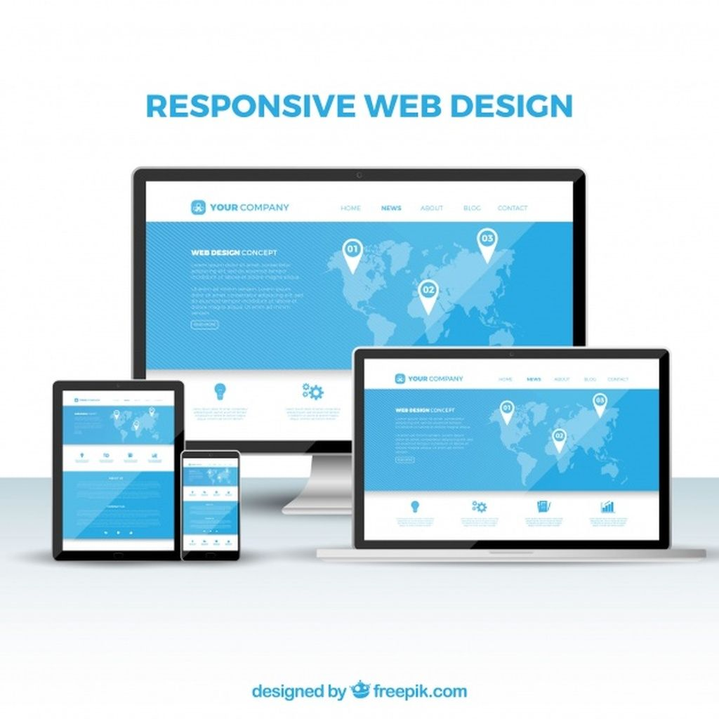 Web Design Concept With Flat Design Paid Paid Ad Design Concept Flat Web In 2020 Fun Website Design Website Design Company Website Design