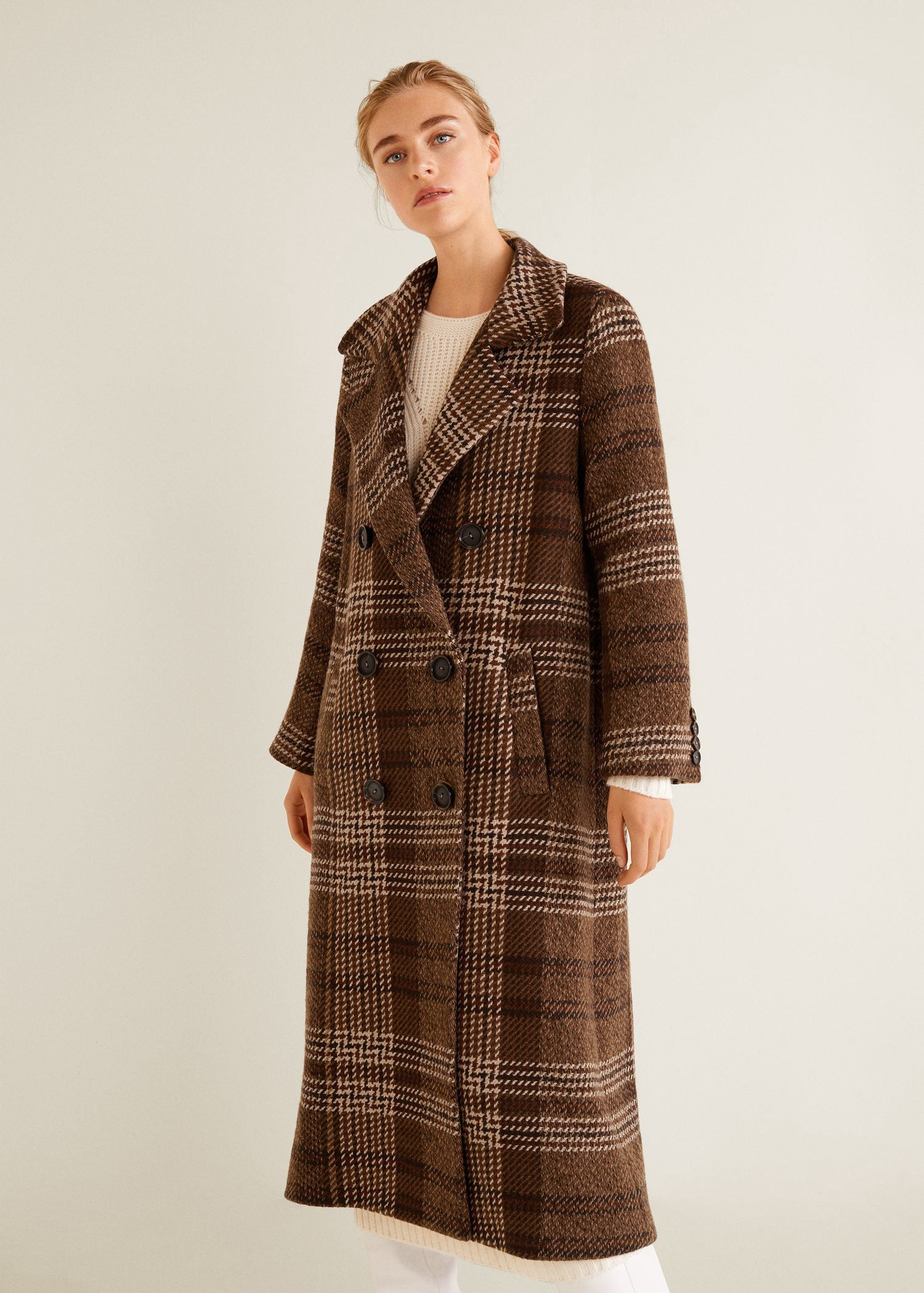 0d5cede3b7d Mango Long Recycled Wool Coat - XS | Products | Wool coat, Mango ...