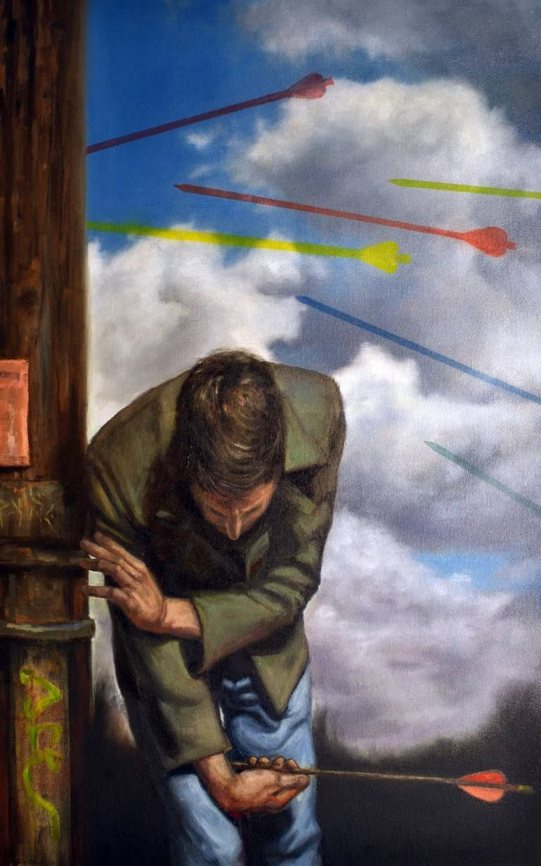 Saint Sebastian's Arrows Painting | Realism art, St sebastian, Painting
