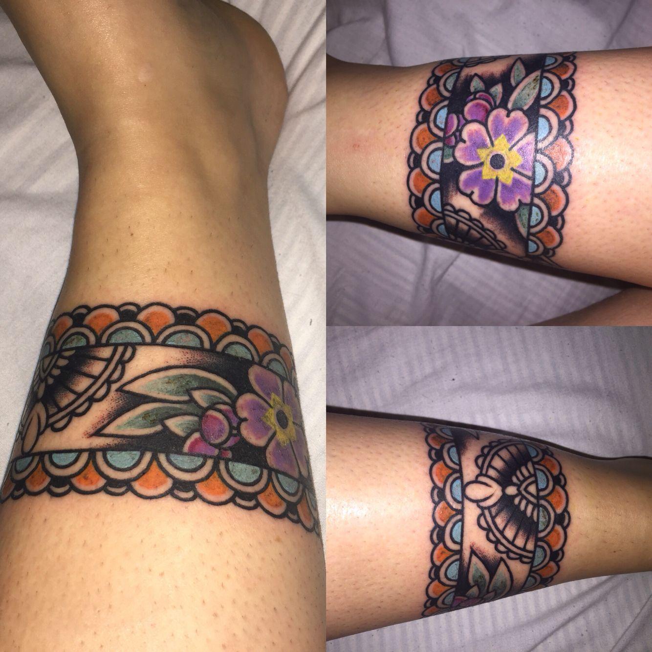 Colourful Ankle Band Tattoo Ankle Band Tattoo Cuff Tattoo Life Tattoos