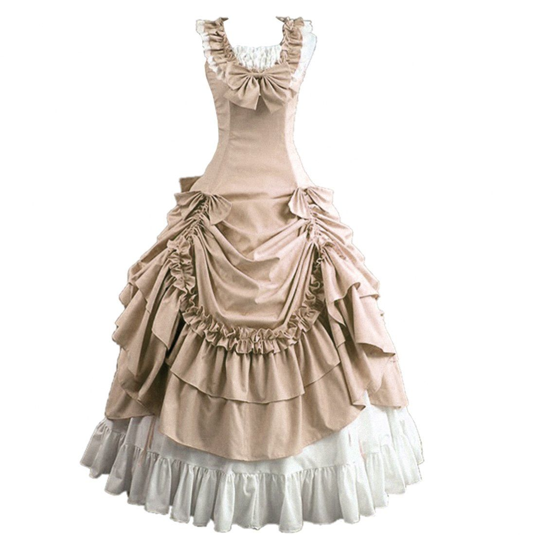 Partiss Damen aermellose Ballkleid gotische Lolita Abendkleid mit ...
