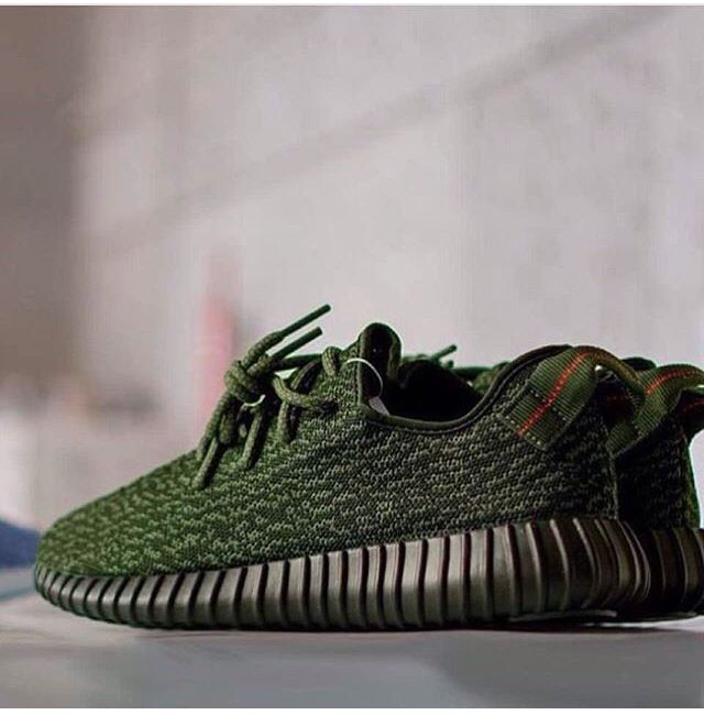 Army Green YZY 350   SHOES   Sneakers fashion, Mens fashion