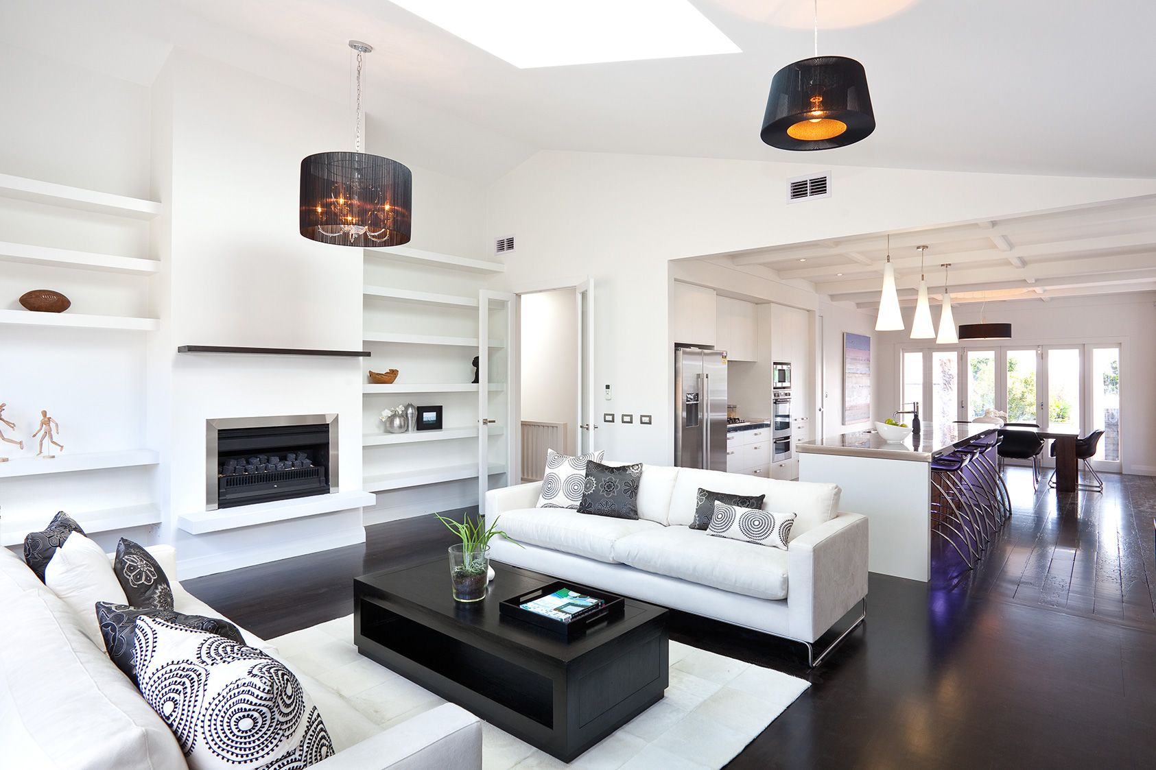 10 Monochrome lounge | High contrast, Modern contemporary living ...