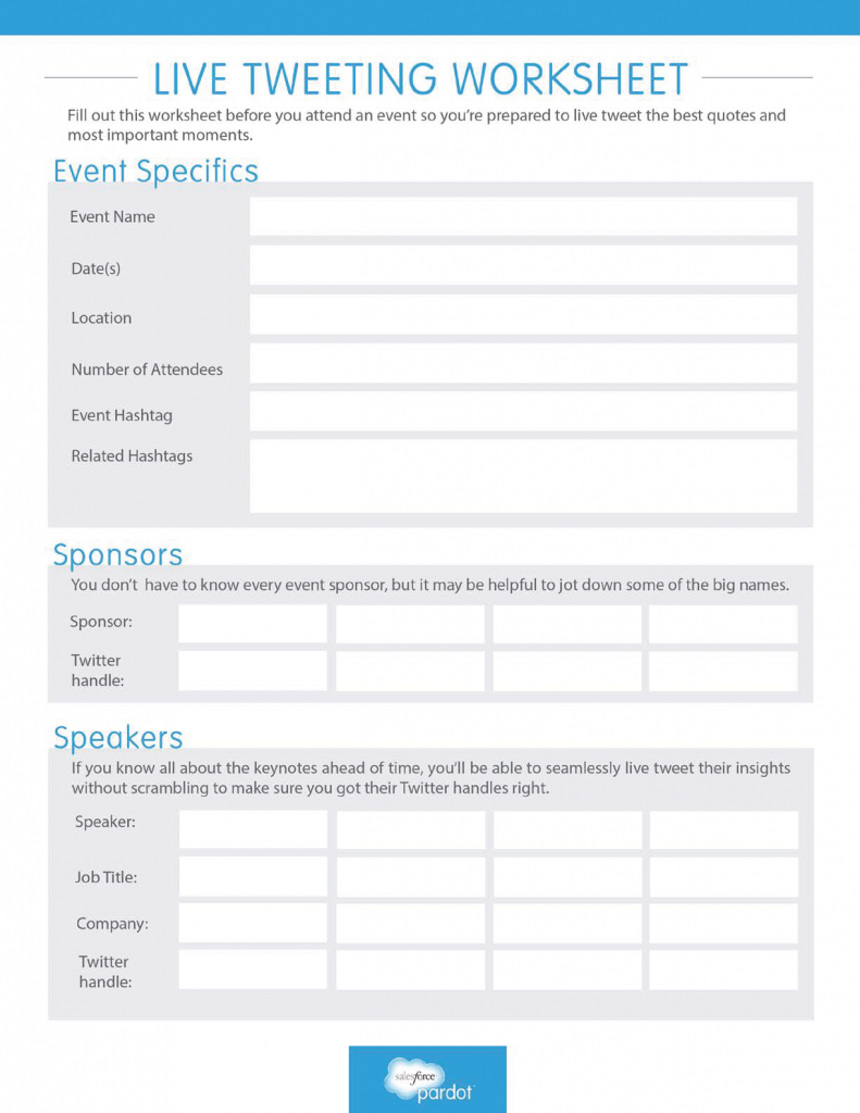 Worksheets Marketing Plan Worksheet live tweeting worksheet plan out your socialmedia strategy for a trade show conference