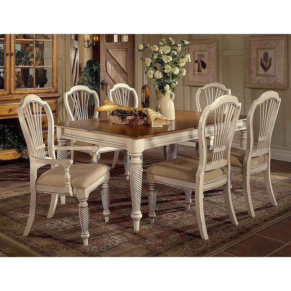 Hillsdale Wilshire 7 Piece Rectangle Dining Set With Dining Chairs (7 PC,  Rectangle), White, Size 7 Piece Sets