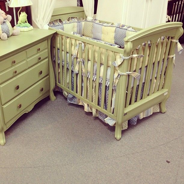 Looking For The New Neutral 2017 How About Romina Furniture S Distressed Olive Finish Shown On Nerva Stationary Crib Photo By Behrsfurniture