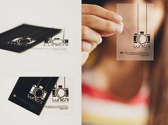 40 Fantastic Transparent Business Cards Webdesign Core Photography Business Cards Transparent Business Cards Business Card Design Photography