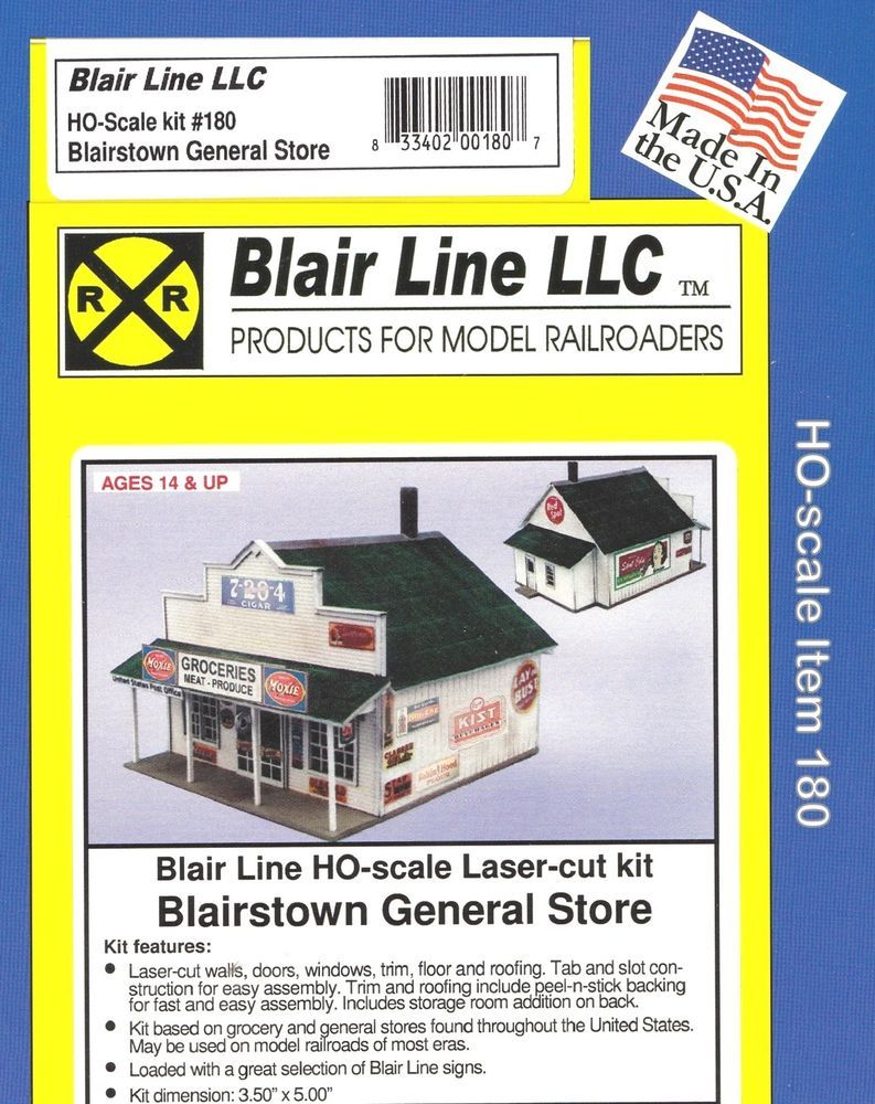 Details about HO Scale General Store Building Kit Item 180
