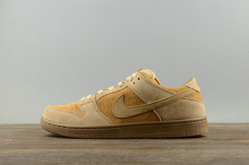 d755e123af06c0 Mode Nike SB Zoom Dunk Low TRD QS WHEAT Skateboarding Sneakers 883232-700  Dune Twig-Wheat-Gum Med Brown Youth Big Boys Shoes