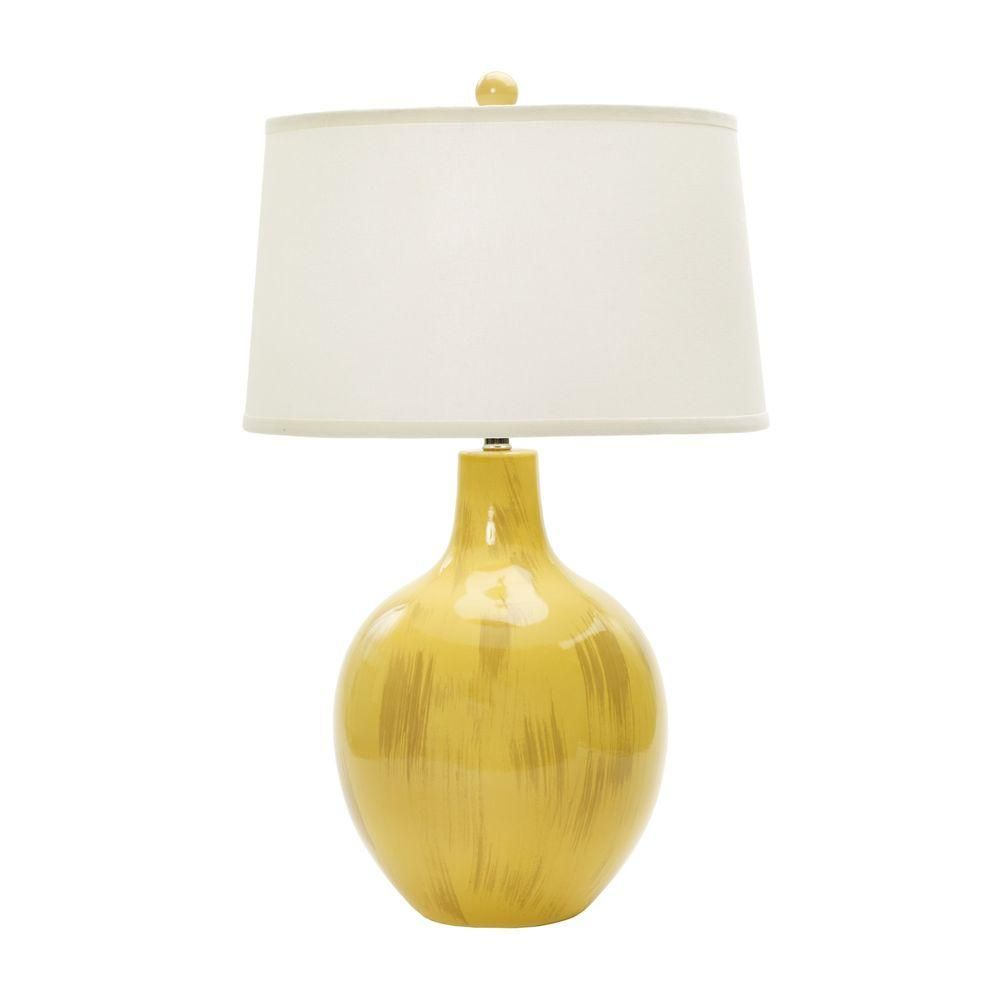 Table Lamps At Home Depot Fangio Lighting 28 Inrustic Goldfinch Crackle Ceramic Table Lamp