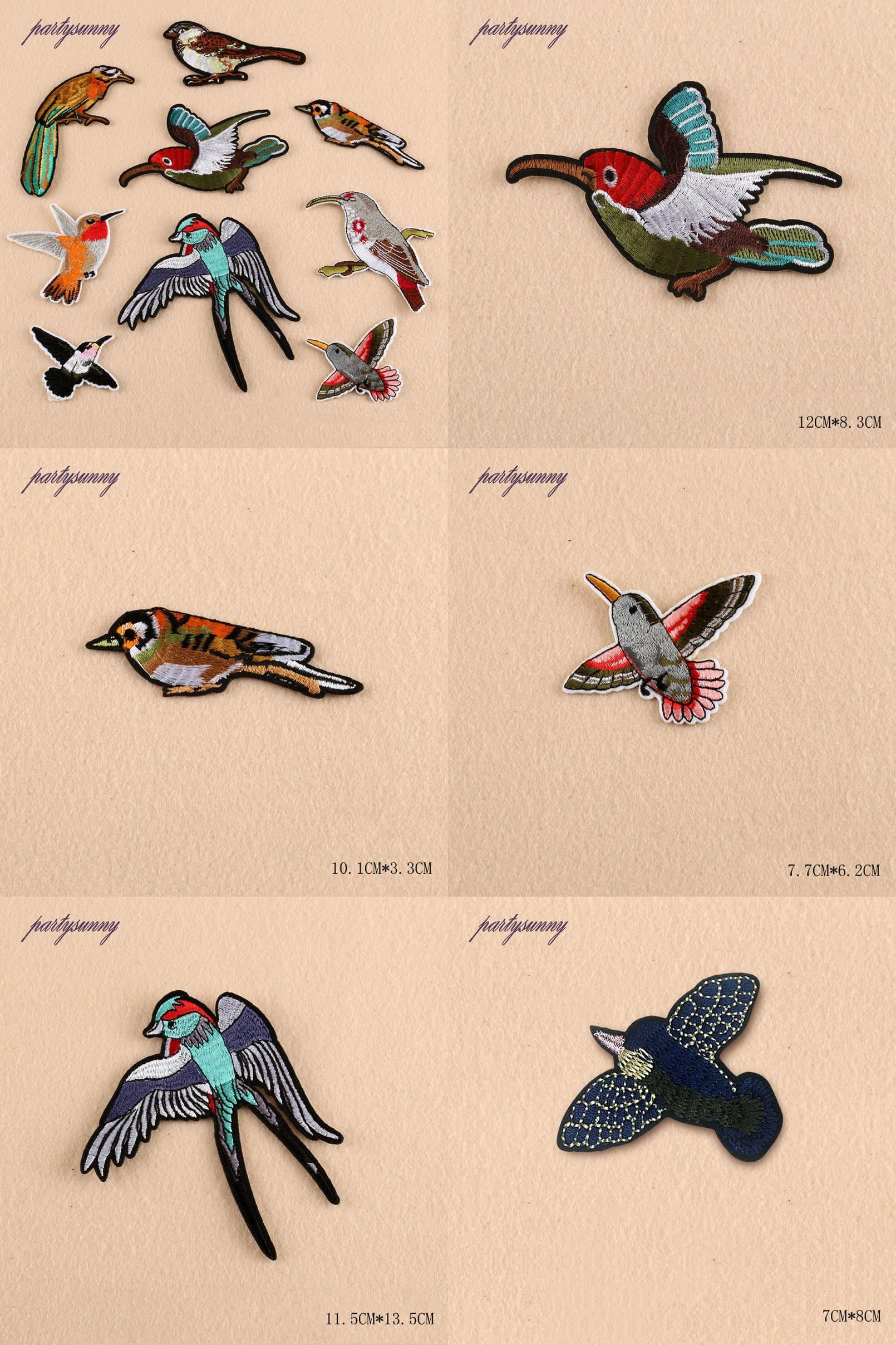 Visit to Buy] Quality Goods Birds Embroidery Patches Hand