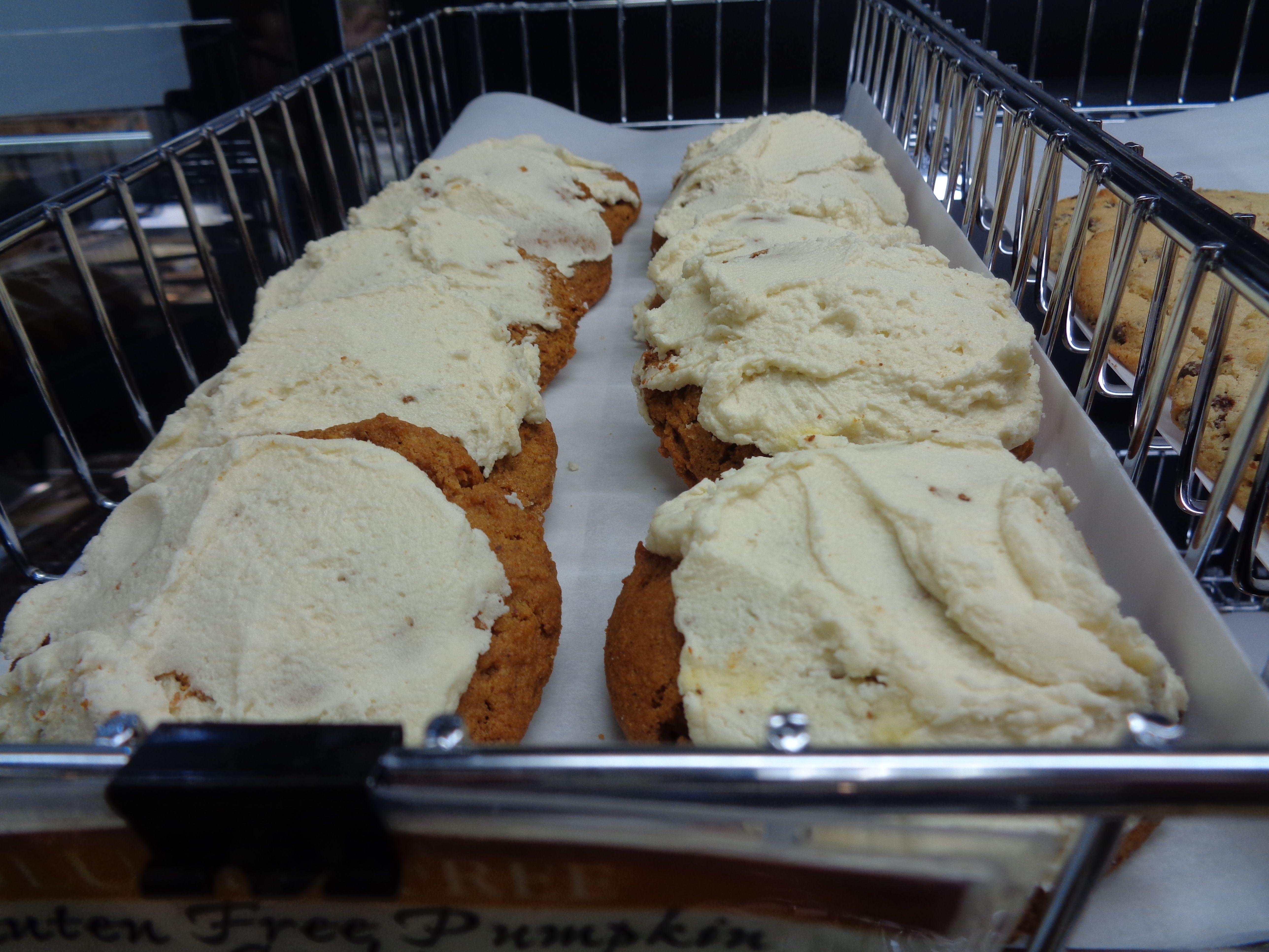 Gluten free iced pumpkin cookies