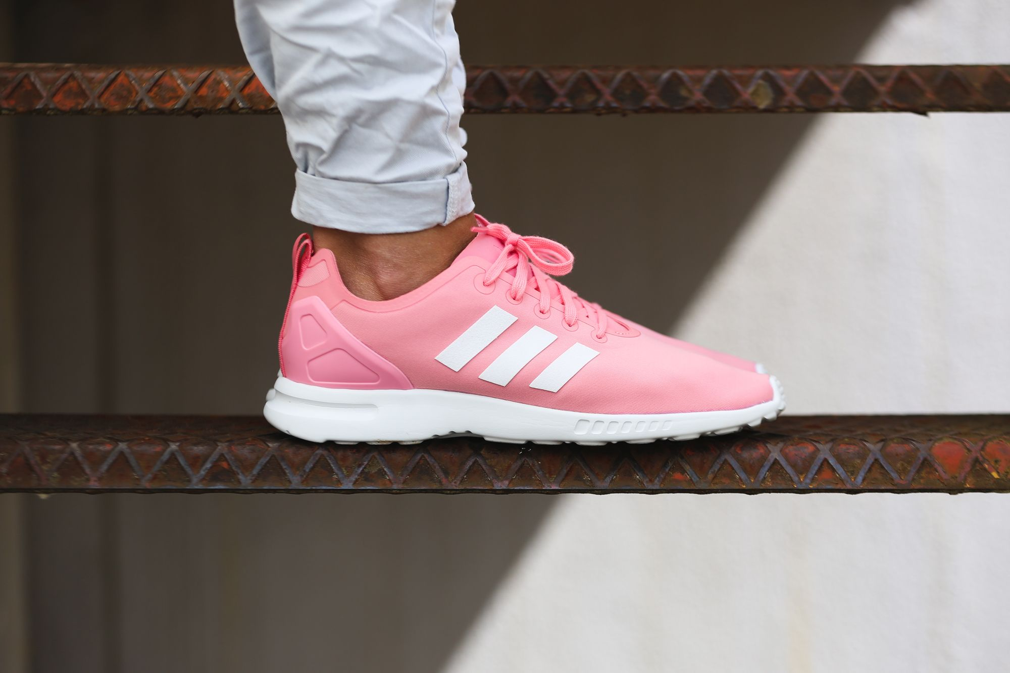 Unisex Adidas Zx8000 Boost Running Shoes White Casual Pink Happy To Own