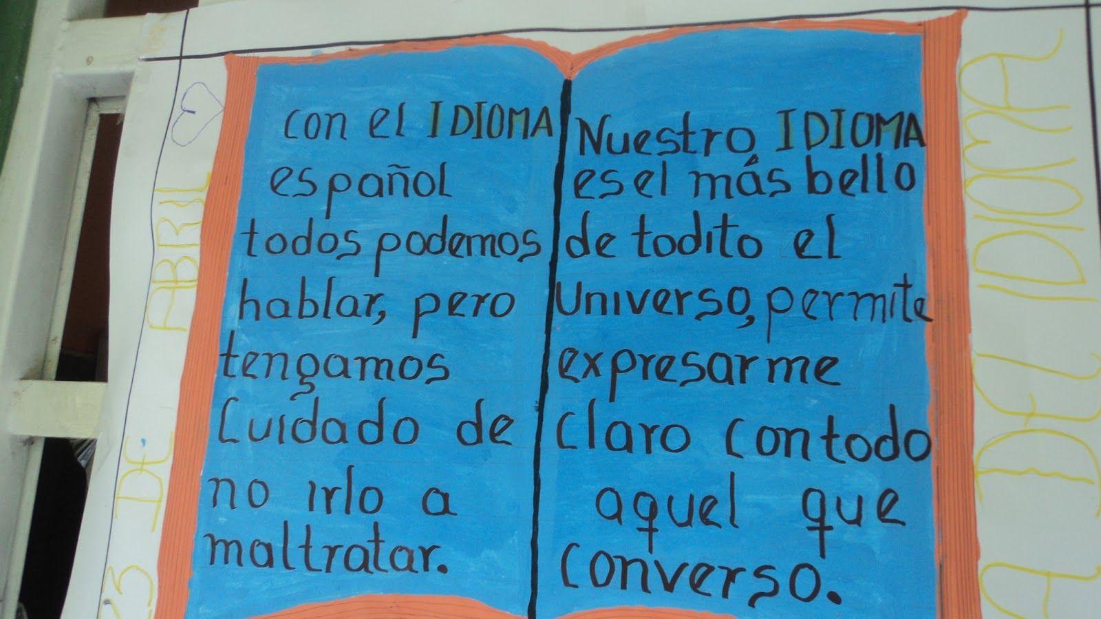 Frases Dia Del Idioma Español Google Search For Kids Pinterest