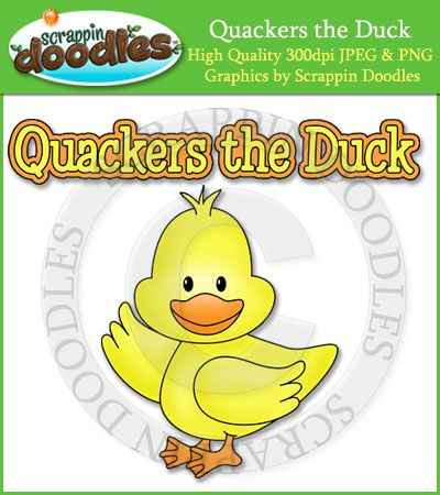 Quackers the Duck Single Graphic & Word Art