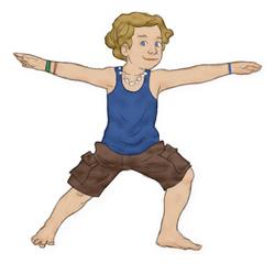 warrior 2 pose for kids  kids yoga stories  yoga for