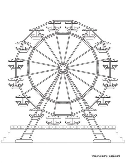 Ferris Wheel Coloring Page Download Free Ferris Wheel Coloring Page For Kids Best Coloring Page Color Wheel Projects Coloring Pages Coloring Pages For Kids