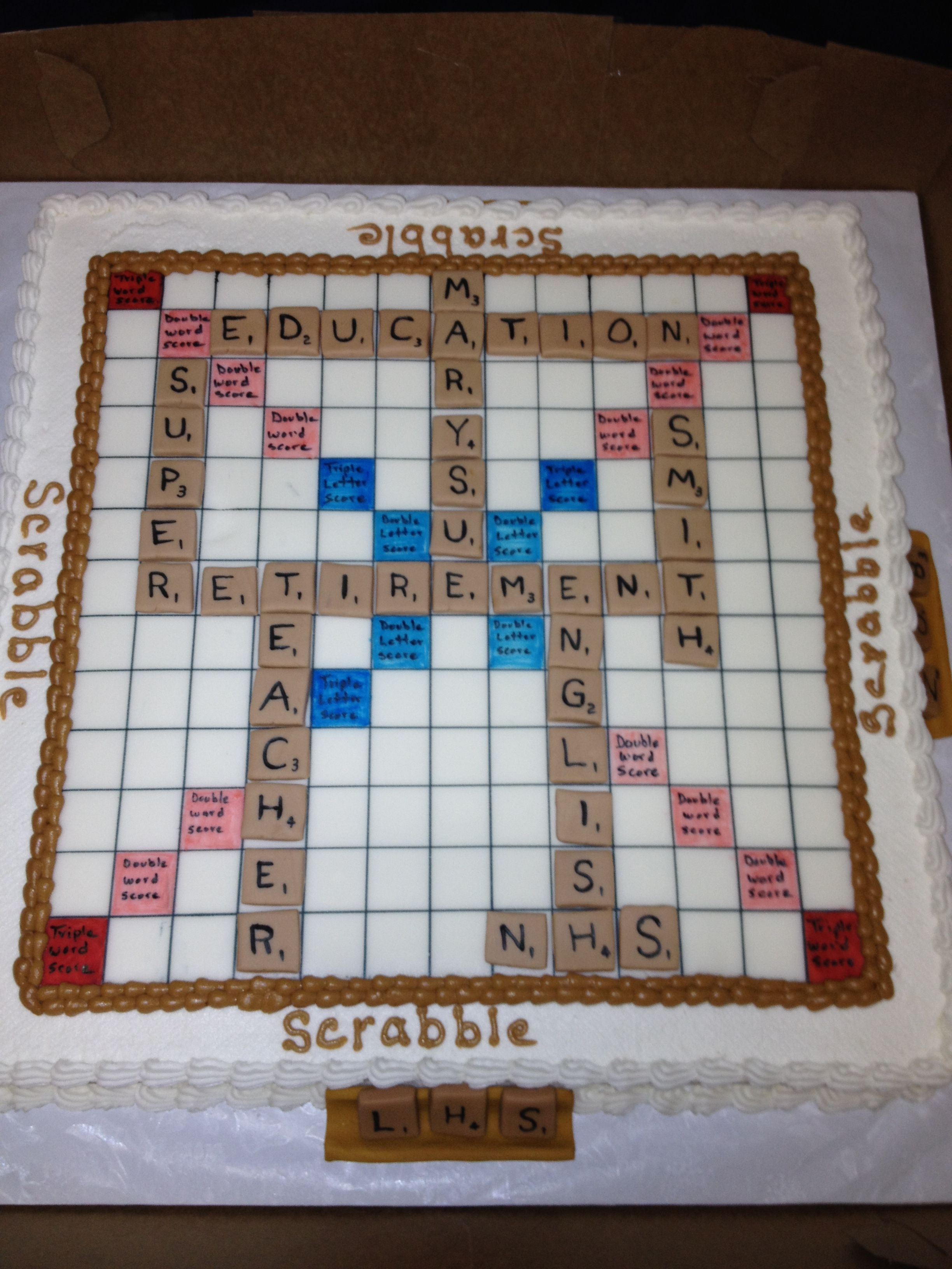 Scribble Board Retirement Cake