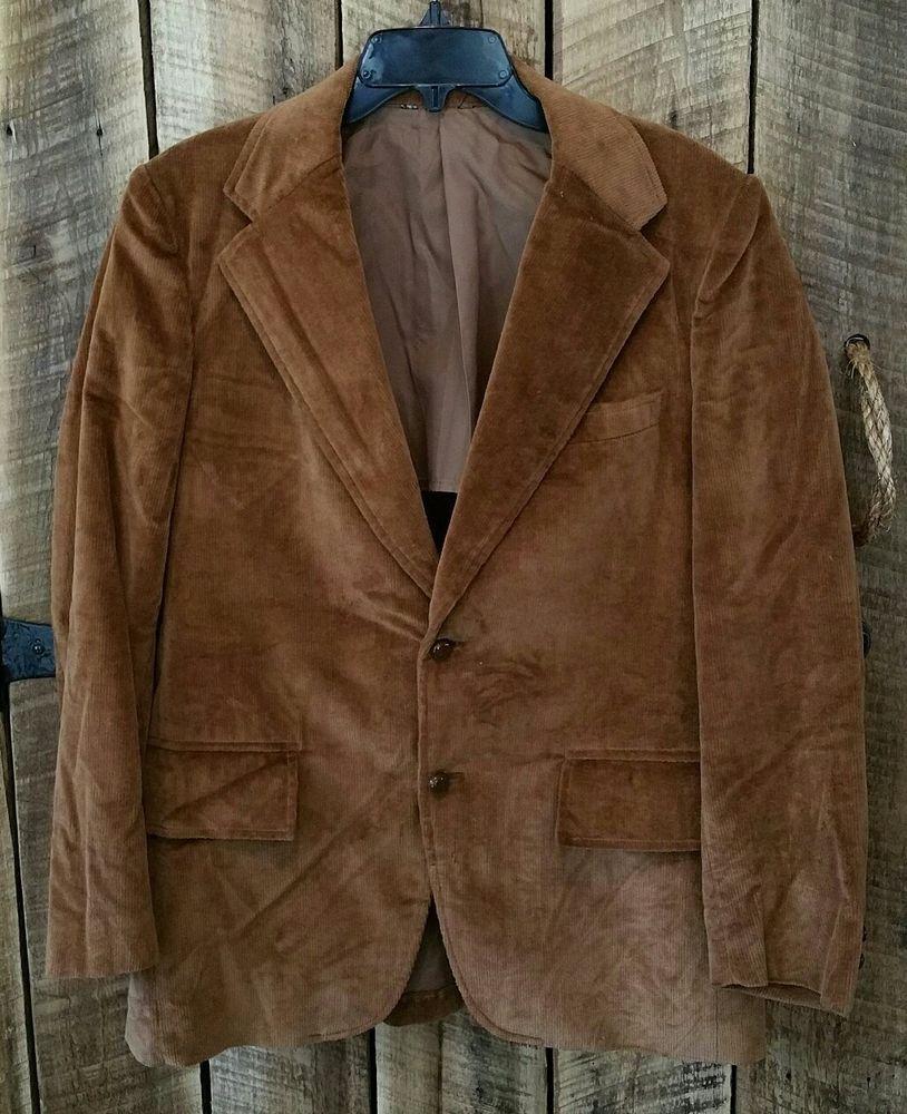 Pietro Sabatini Brown Corduroy Western Sport Coat Jacket