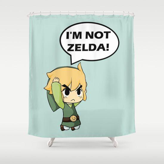 I M Not Zelda Link From Legend Of Zelda Shower Curtain By