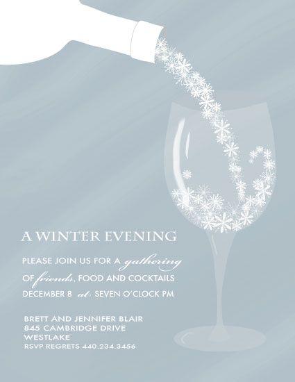 party invitations Winter Evening Wedding Invitation Crush