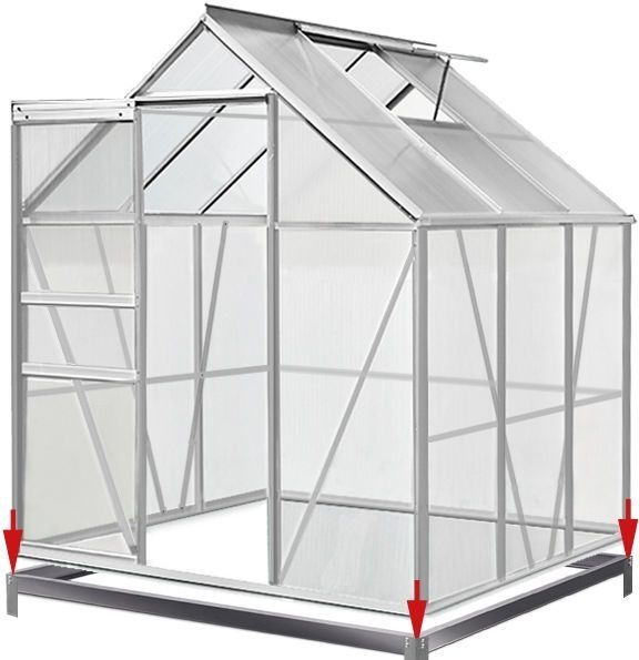 Polycarbonate Aluminium Greenhouse Protect Plants Growhouse Garden ...
