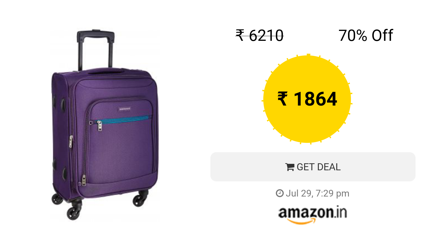 Rs. 309 Back  Aristocrat Nile Polyester 54 cms Purple Soft Sided Carry- 0e42d12300