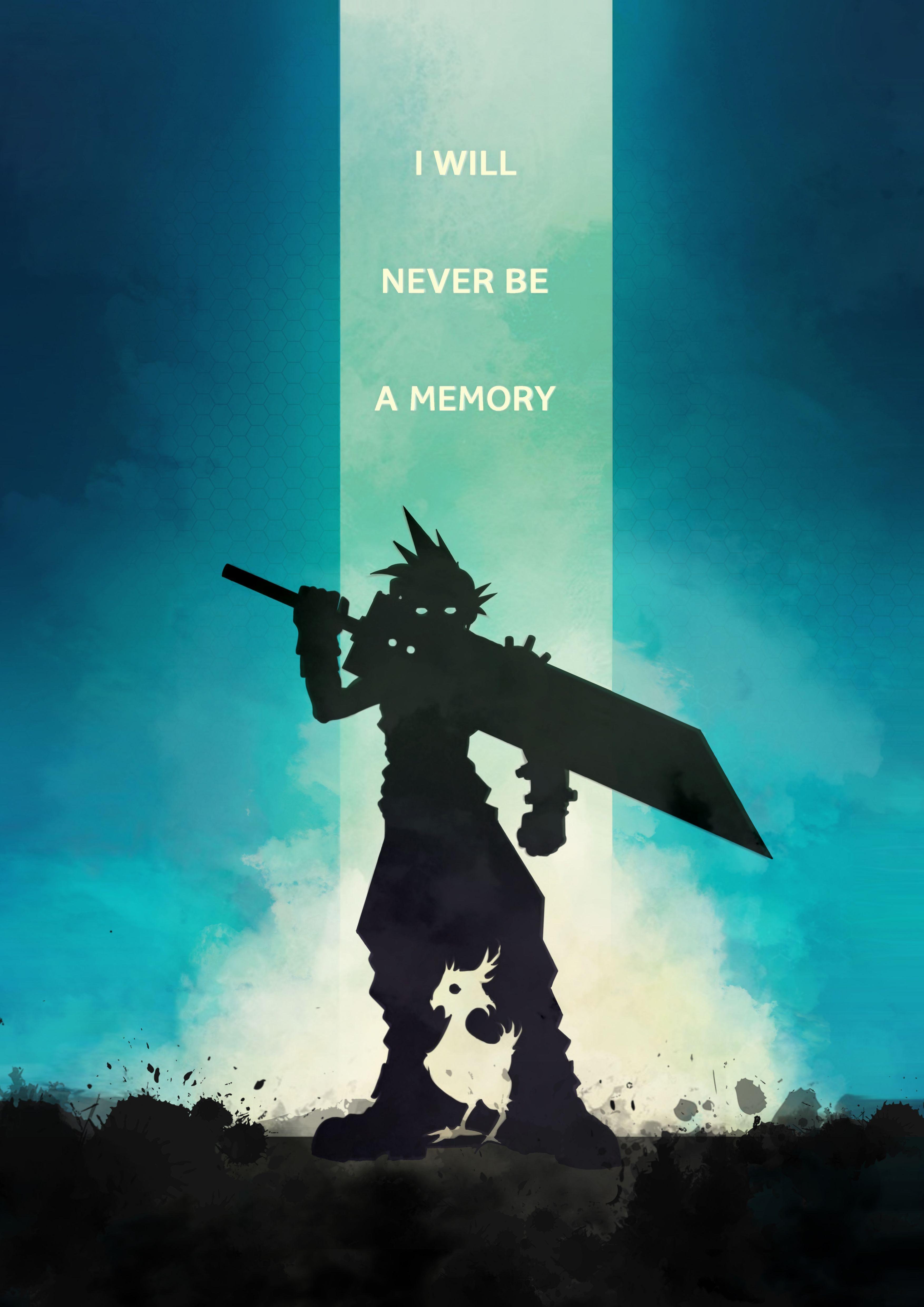 Remake Poster Cloud Final Fantasy VII Final fantasy