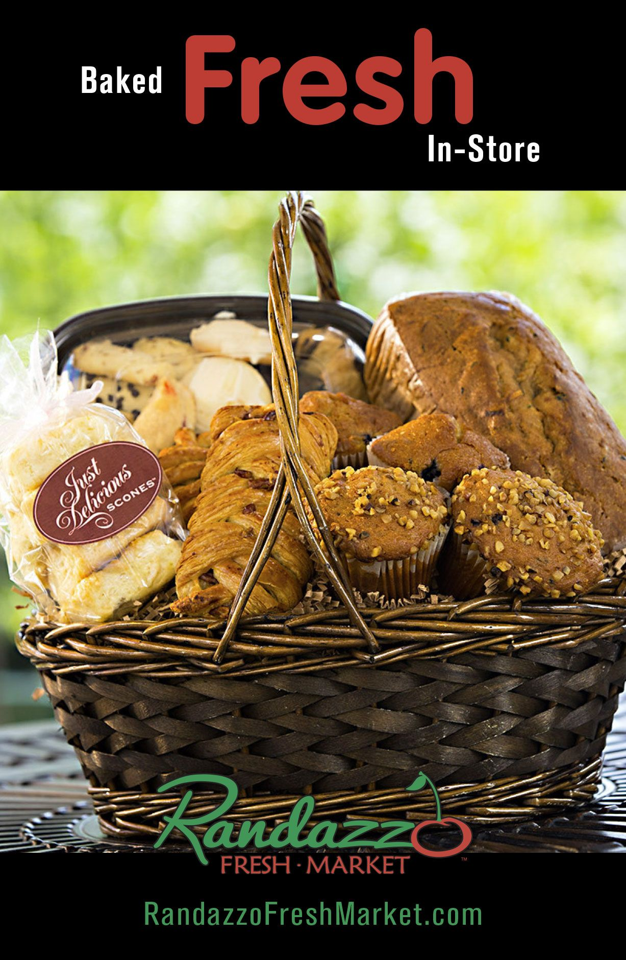 Our Bakery #GiftBaskets are made #fresh in-store everyday and handpicked to make the #perfect #gift!