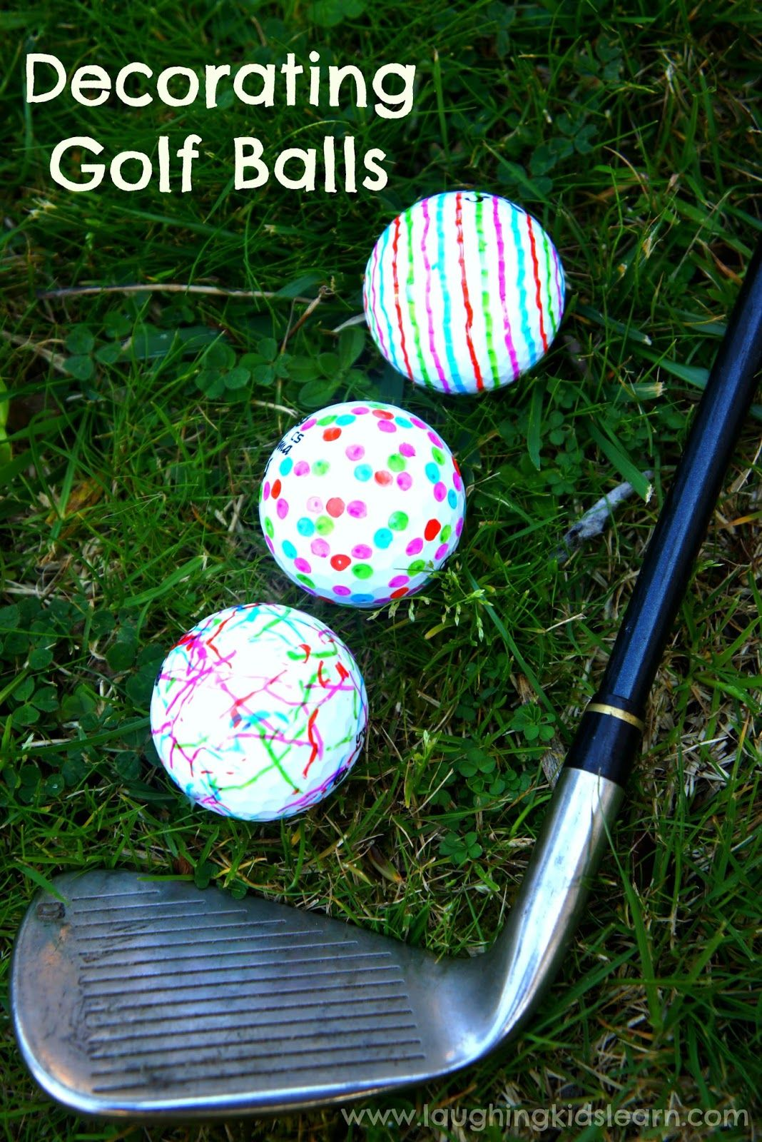 Decorating golf balls for fathers day gift diy fathers