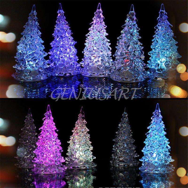 $138 - Led Crystal Color Changing Mini Christmas Tree Night Light