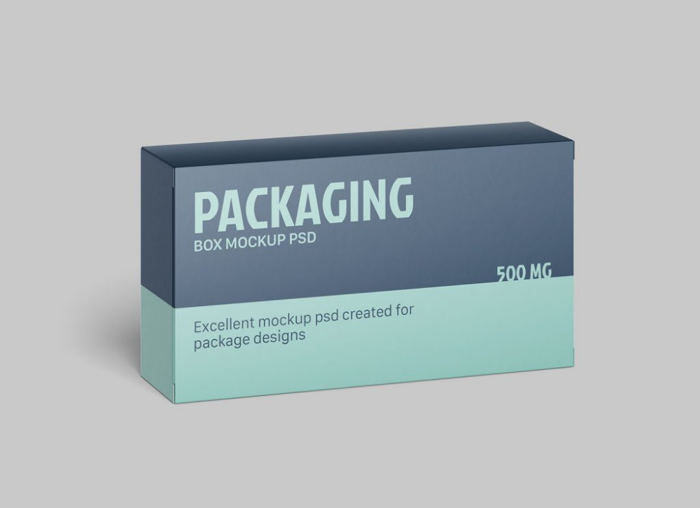 Download Free Rectangle Box Packaging Mockup Free Package Mockups Free Packaging Mockup Packaging Mockup Box Packaging