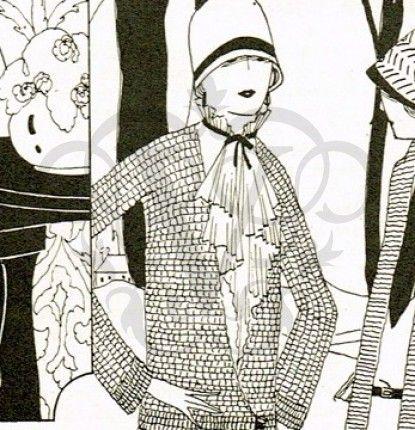 1920s Long Flapper Jacket Crochet Pattern | Crochet ...