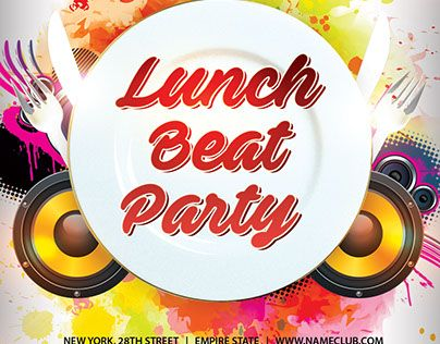 Lunch Beat Party Psd Flyer Template  Psd Flyer Templates Flyer