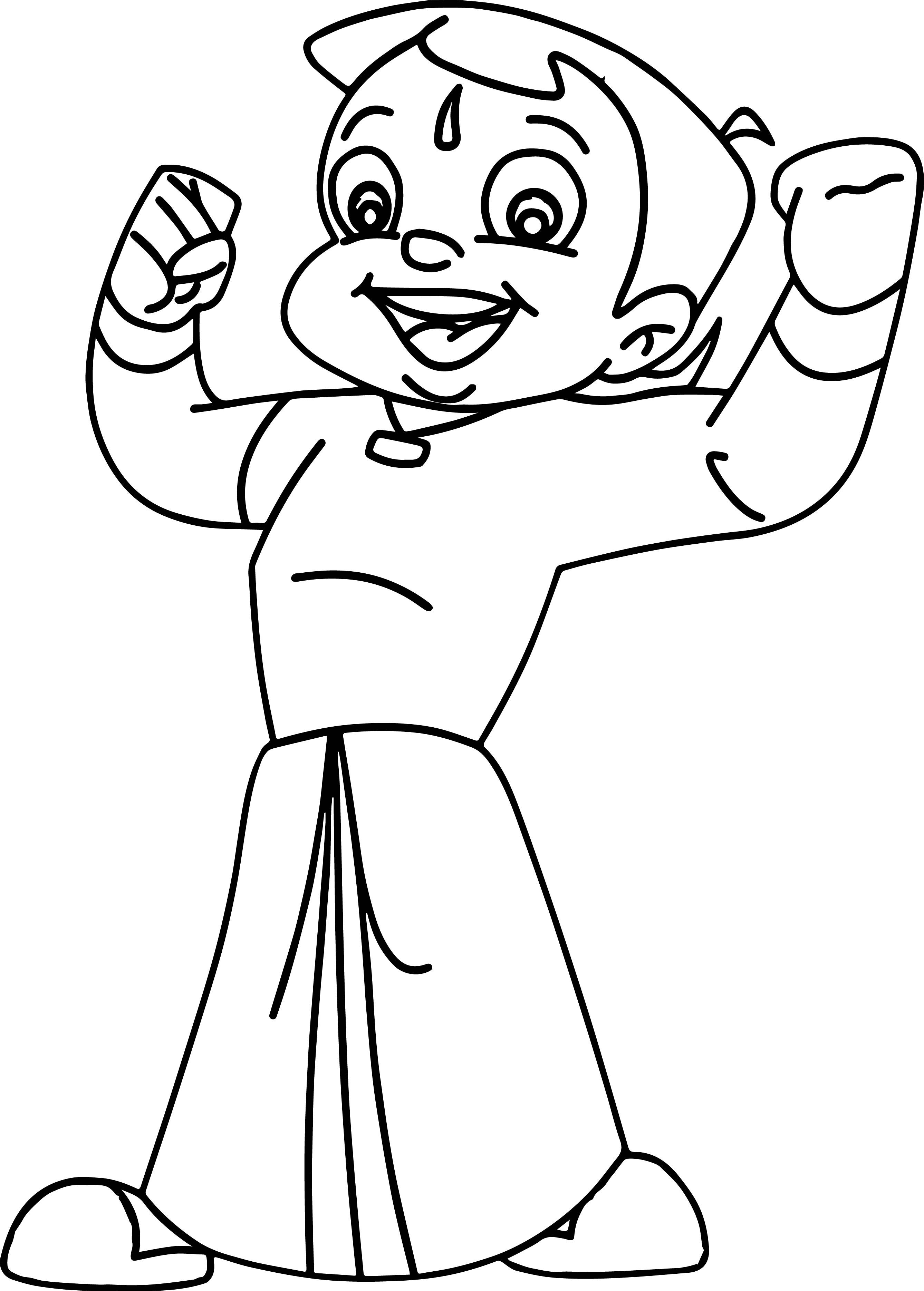 Chhota Bheem Coloring Pages | Cake