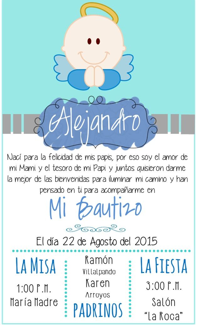 Invitaciones Para Bautizo Invitaciones Bautizo Tarjeta De
