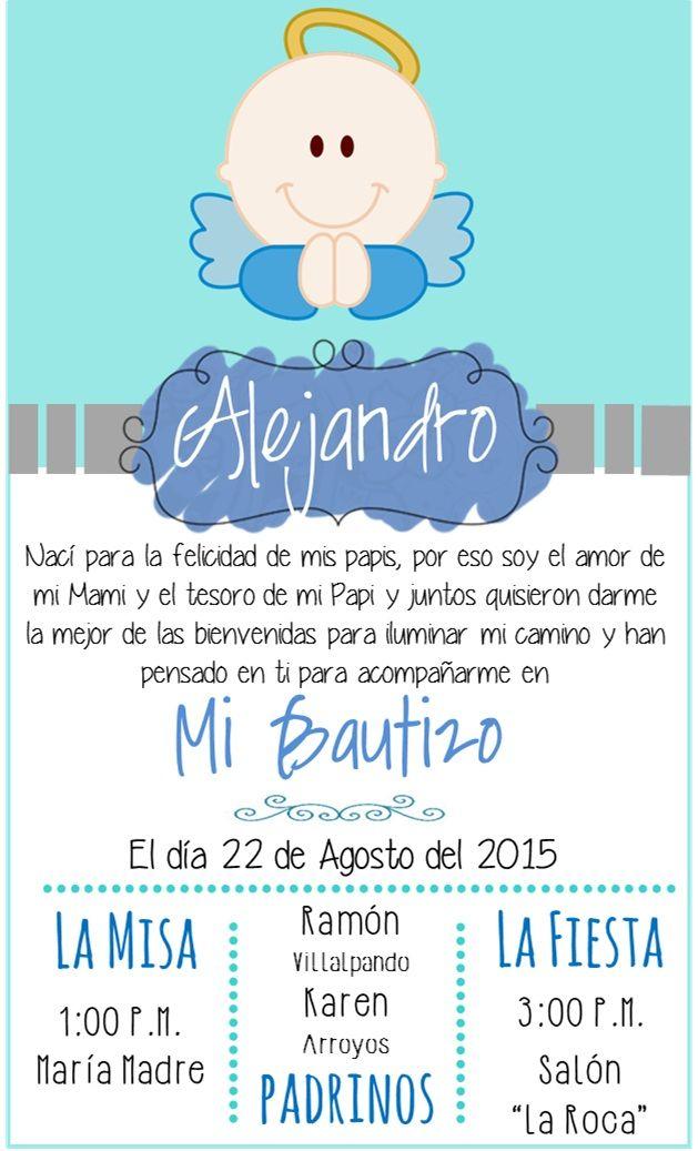 Formato Para Invitacion De Bautizo Wpa Wpart Co