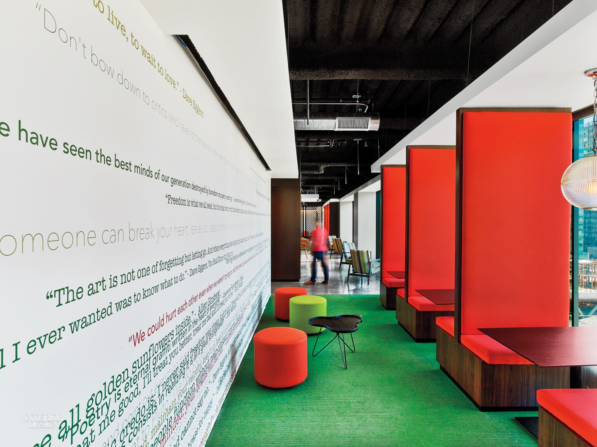 at linkedin san francisco office by interior architects graphics