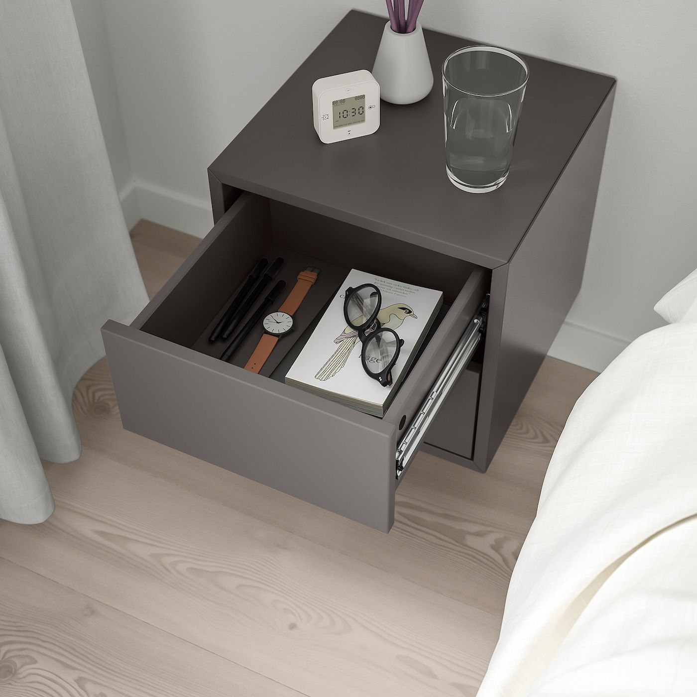 Eket Wandschrank Mit 2 Schubladen Dunkelgrau Ikea Osterreich In 2020 Wall Cabinet Eket Ikea