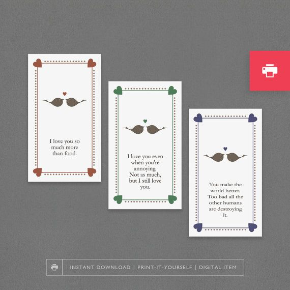Printable Love Cards Cheap Stocking Stuffer Romantic Funny - printable anniversary cards for husband