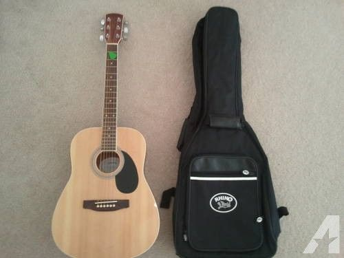 Sequoia Acoustic Guitar With Rhino Carrying Case Acoustic Guitar Guitar Carrying Case
