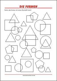 formen lernen für vorschulkinder | bildung, vorschule, vorschulideen